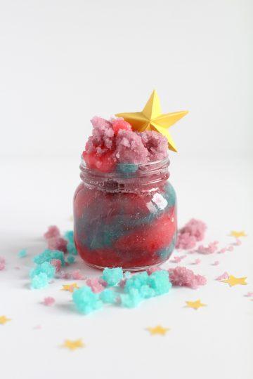 unicorn sugar scrub for unicorn party ideas