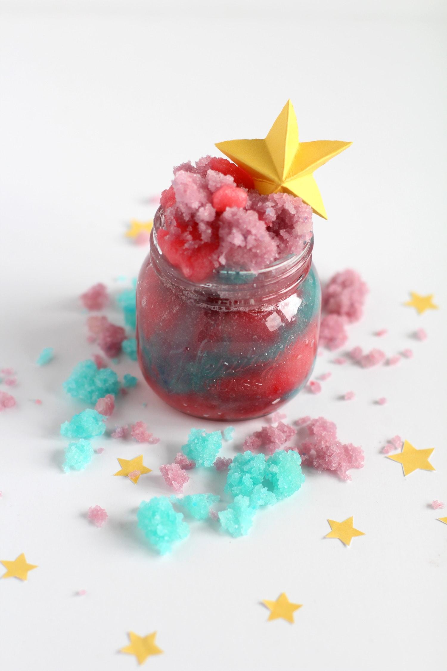 how to make unicorn sugar scrub recipe homemade