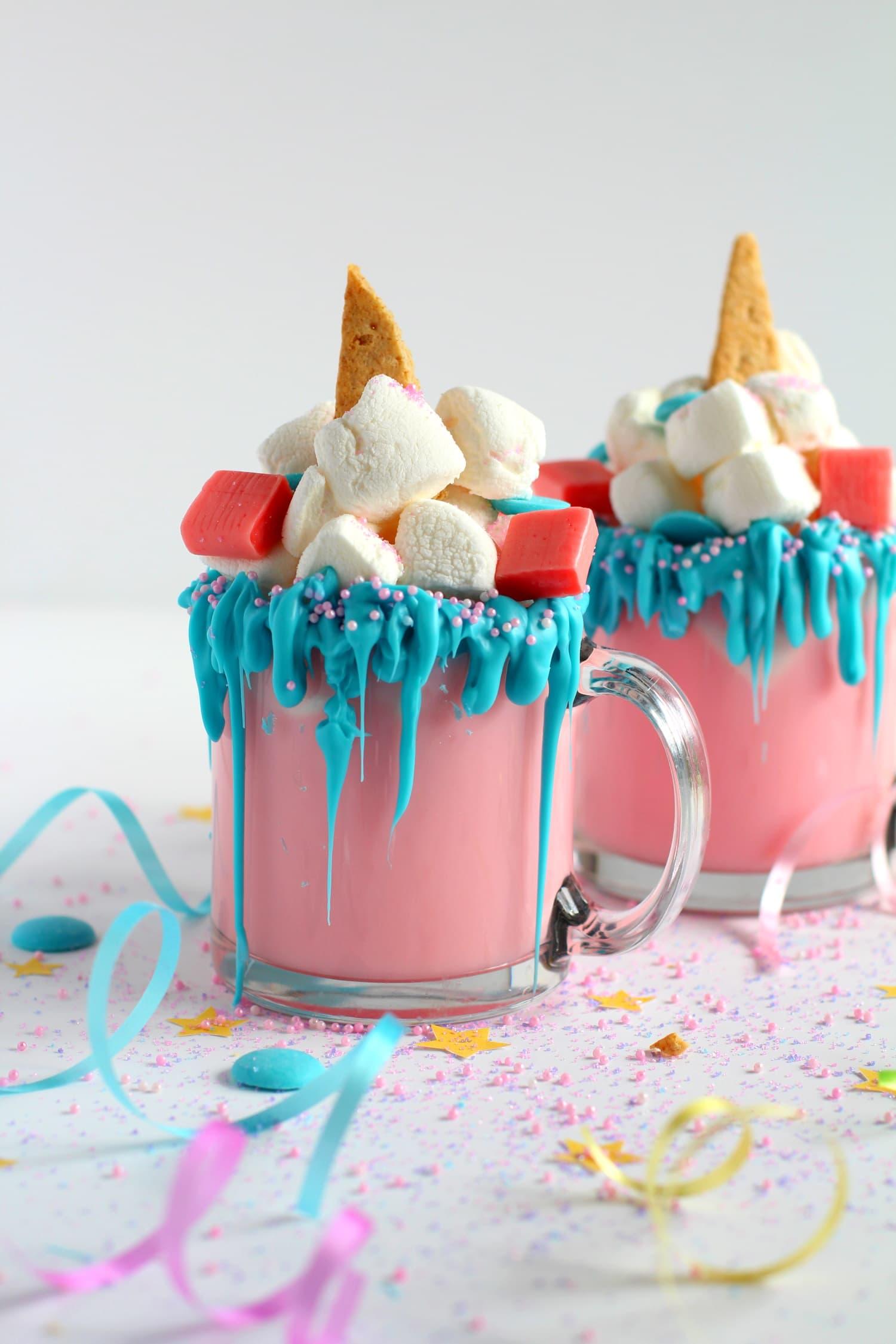 Unicorn hot chocolate | How to make homemade unicorn hot chocolate recipe