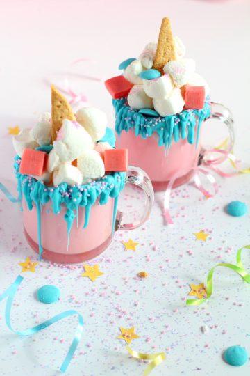 unicorn hot chocolate diy