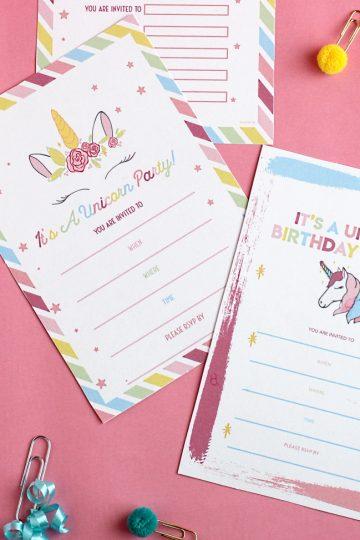 free unicorn invitation template