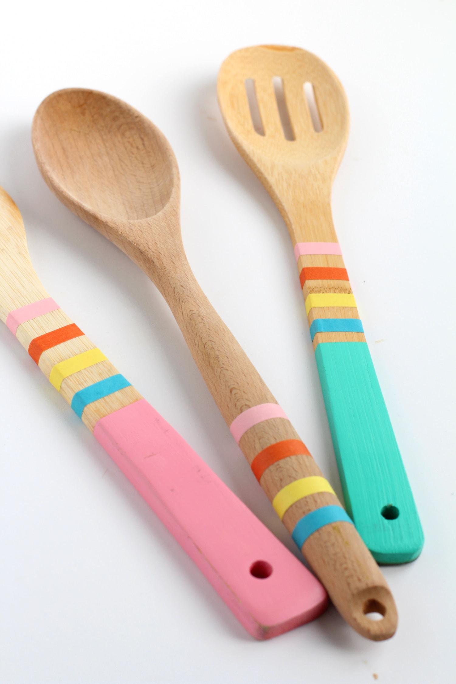 washi tape ideas kitchen utensils