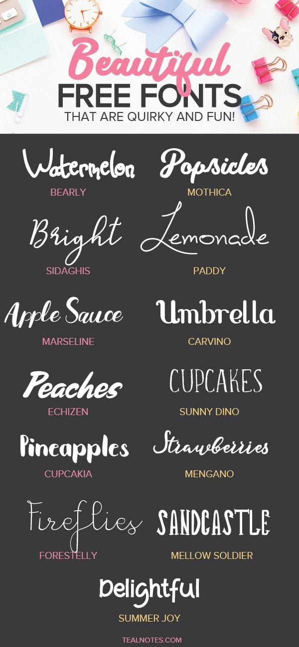 beautiful free fonts you can download instantly | The Hungry Jpeg