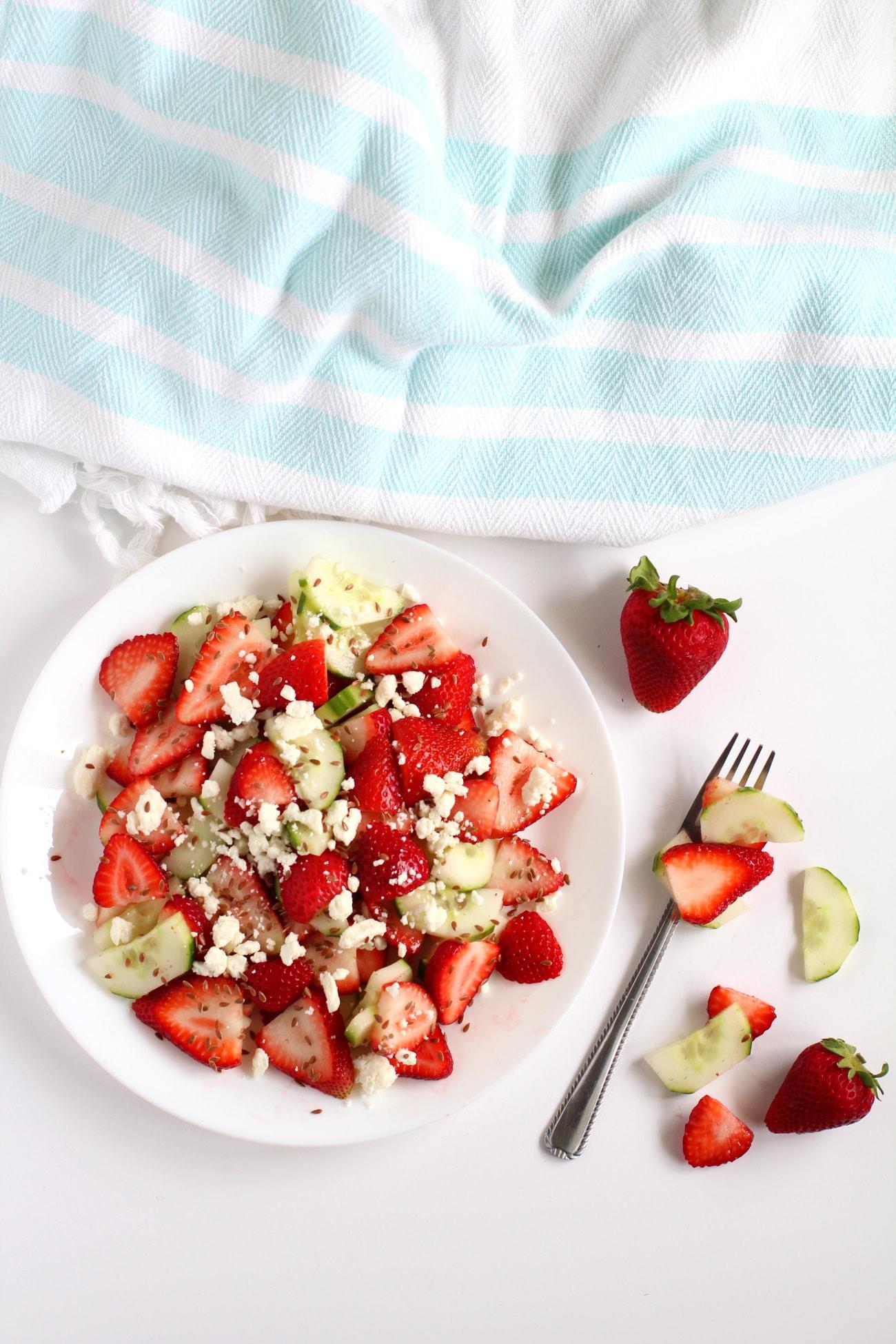 Strawberry cucumber salad recipe