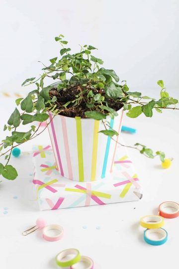 DIY Washi Tape Planter