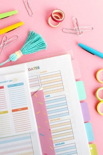 DIY Planner, how to make a printable planner wth templates and planner ideas