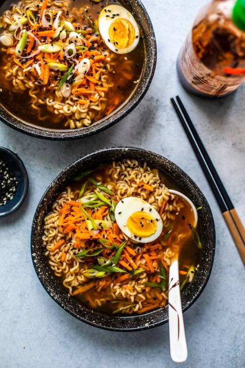 homemade ramen bowl