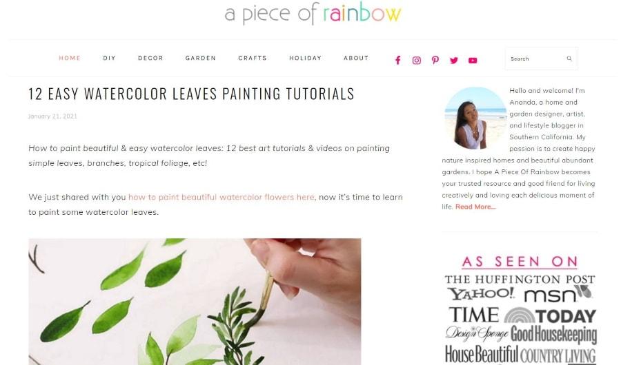 A Piece Of Rainbow - women's blogs
