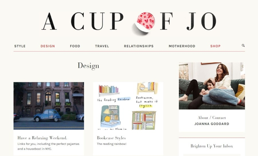 womens lifestyle blogs 2021 - A Cup Of Jo